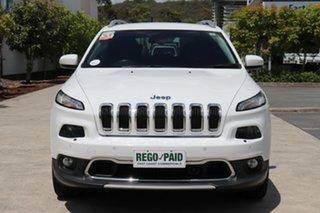 2015 Jeep Cherokee KL MY15 Limited Diamond White 9 speed Automatic Wagon.