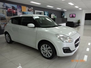 2021 Suzuki Swift AZ Series II GL Navi Pure White Continuous Variable Hatchback.