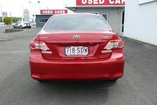 2010 Toyota Corolla ZRE152R MY11 Ascent Red 4 Speed Automatic Sedan