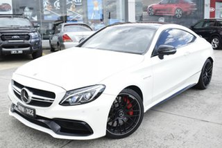 2018 Mercedes-Benz C-Class C205 808MY C63 AMG SPEEDSHIFT MCT S White 7 Speed Sports Automatic Coupe.