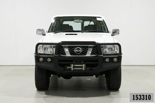 2016 Nissan Patrol GU Series 9 ST (4x4) Pearl White 5 Speed Manual Wagon.