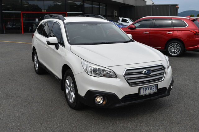 Used Subaru Outback B6A MY16 2.0D CVT AWD Wantirna South, 2016 Subaru Outback B6A MY16 2.0D CVT AWD White 7 Speed Constant Variable Wagon