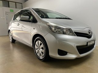 2011 Toyota Yaris NCP130R YR Silver 4 Speed Automatic Hatchback.