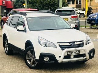 2013 Subaru Outback B5A MY14 2.5i Lineartronic AWD White 6 Speed Constant Variable Wagon