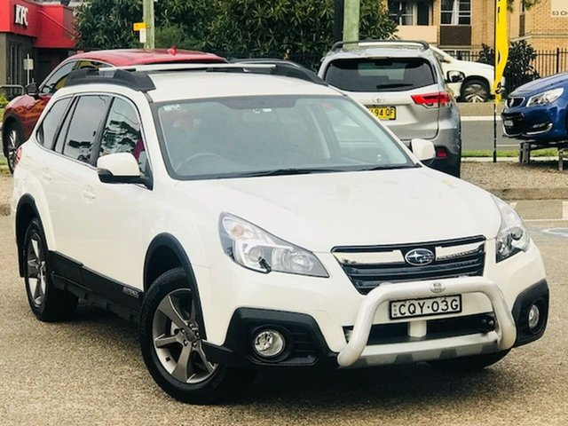 Used Subaru Outback B5A MY14 2.5i Lineartronic AWD Liverpool, 2013 Subaru Outback B5A MY14 2.5i Lineartronic AWD White 6 Speed Constant Variable Wagon