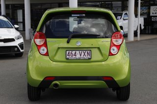 2015 Holden Barina Spark MJ MY15 CD Fresh Lime Green/black 4 Speed Automatic Hatchback