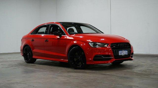 Used Audi S3 8V MY15 S Tronic Quattro Welshpool, 2015 Audi S3 8V MY15 S Tronic Quattro Red 6 Speed Sports Automatic Dual Clutch Sedan