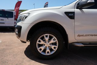 2014 Ford Ranger PX Wildtrak 3.2 (4x4) White 6 Speed Automatic Crew Cab Utility.