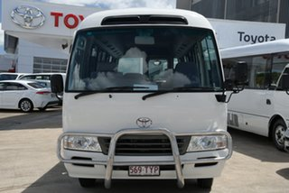 2014 Toyota Coaster White Automatic Bus.