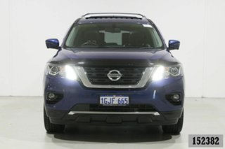 2017 Nissan Pathfinder R52 MY15 Upgrade TI (4x2) Blue Continuous Variable Wagon.