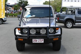 2000 Toyota Landcruiser HZJ79R (4x4) Silver 5 Speed Manual 4x4 Cab Chassis.