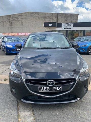 Used Mazda 2 DJ Genki Cheltenham, 2015 Mazda 2 DJ Genki Black 6 Speed Automatic Hatchback