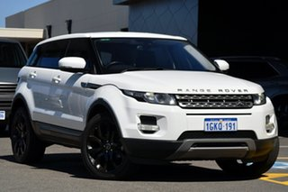 2013 Land Rover Range Rover Evoque L538 MY13 SD4 CommandShift Pure White 6 Speed Sports Automatic.