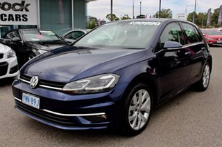 2017 Volkswagen Golf 7.5 MY18 110TSI DSG Highline Atlantic Blue 7 Speed Sports Automatic Dual Clutch