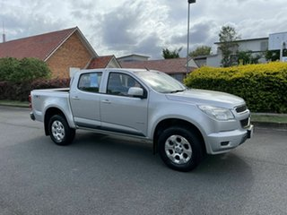2013 Holden Colorado RG MY14 LX Silver 6 Speed Automatic Dual Cab.