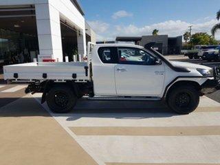 2016 Toyota Hilux GUN126R SR Extra Cab Glacier White 6 Speed Manual Utility.