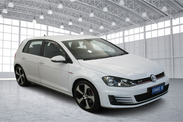Used Volkswagen Golf VII MY14 GTI DSG Victoria Park, 2014 Volkswagen Golf VII MY14 GTI DSG Pure White 6 Speed Sports Automatic Dual Clutch Hatchback