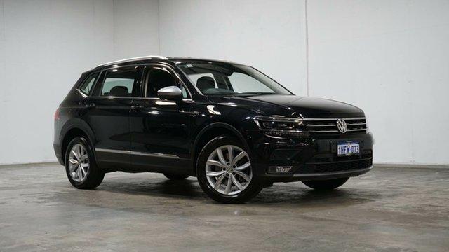 Used Volkswagen Tiguan 5N MY19.5 132TSI Comfortline DSG 4MOTION Allspace Welshpool, 2019 Volkswagen Tiguan 5N MY19.5 132TSI Comfortline DSG 4MOTION Allspace Deep Black 7 Speed