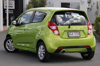 2015 Holden Barina Spark MJ MY15 CD Fresh Lime Green/black 4 Speed Automatic Hatchback.