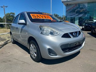 2015 Nissan Micra K13 Series 4 MY15 ST Silver 5 Speed Manual Hatchback.