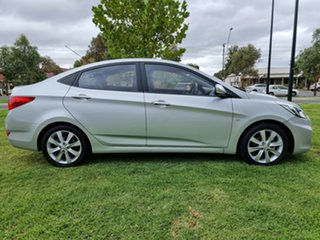 2011 Hyundai Accent RB Elite Sleek Silver 4 Speed Sports Automatic Sedan.