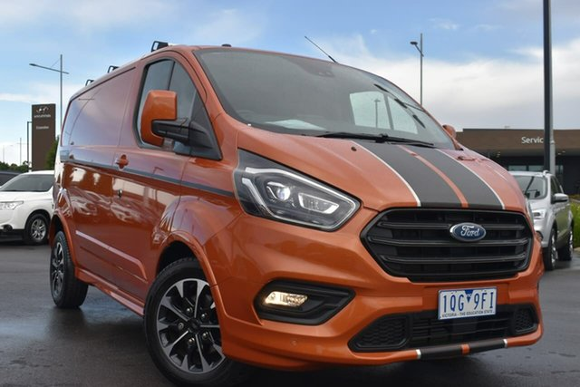 Used Ford Transit Custom VN 2019.75MY 320S (Low Roof) Sport Essendon Fields, 2019 Ford Transit Custom VN 2019.75MY 320S (Low Roof) Sport Orange Glow 6 Speed Automatic Van