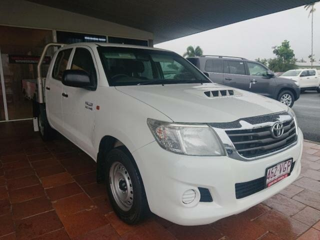 Pre-Owned Toyota Hilux KUN16R MY14 SR Innisfail, 2014 Toyota Hilux KUN16R MY14 SR Glacier White 5 Speed Manual Dual Cab Pick-up