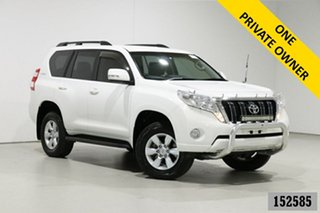 2014 Toyota Landcruiser Prado KDJ150R MY14 GXL (4x4) White 5 Speed Sequential Auto Wagon.