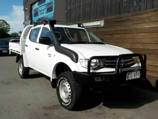 2011 Mitsubishi Triton MN MY11 GLX Double Cab White 5 Speed Manual Utility.