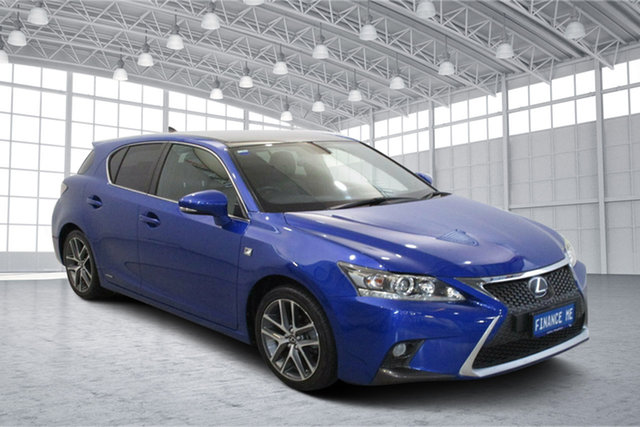 Used Lexus CT ZWA10R MY13 CT200h F Sport Victoria Park, 2014 Lexus CT ZWA10R MY13 CT200h F Sport Blue 1 Speed Constant Variable Hatchback Hybrid