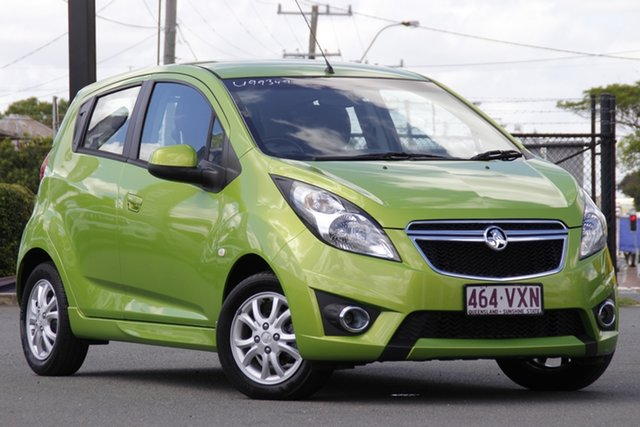 Used Holden Barina Spark MJ MY15 CD Rocklea, 2015 Holden Barina Spark MJ MY15 CD Fresh Lime Green/black 4 Speed Automatic Hatchback