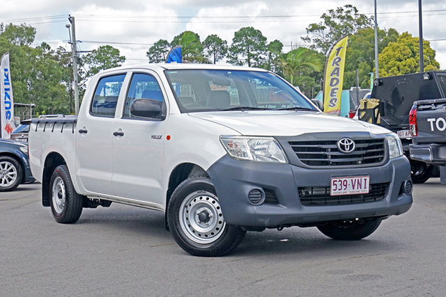 Used Toyota Hilux TGN16R MY14 Workmate Double Cab 4x2 Chandler, 2015 Toyota Hilux TGN16R MY14 Workmate Double Cab 4x2 White 4 Speed Automatic Utility