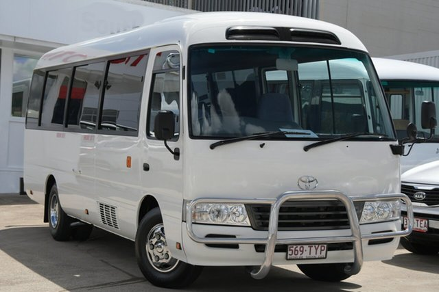 Pre-Owned Toyota Coaster Woolloongabba, 2014 Toyota Coaster White Automatic Bus