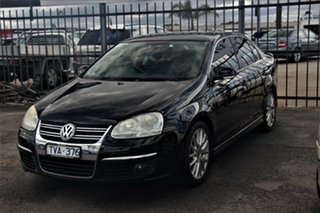 2006 Volkswagen Jetta 1KM MY07 Turbo DSG Black 6 Speed Sports Automatic Dual Clutch Sedan.
