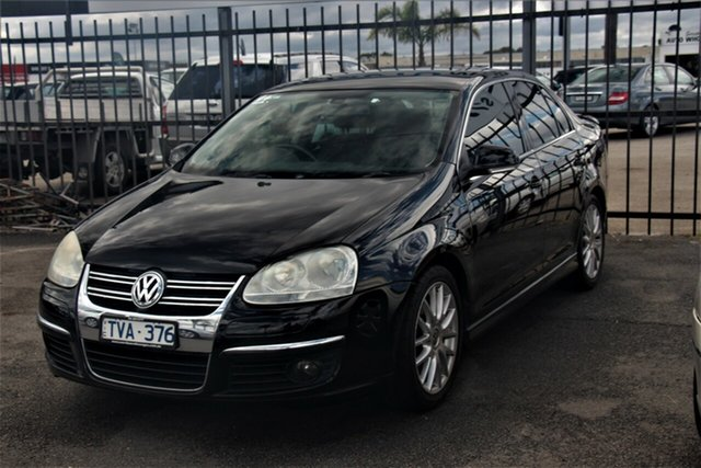 Used Volkswagen Jetta 1KM MY07 Turbo DSG Cheltenham, 2006 Volkswagen Jetta 1KM MY07 Turbo DSG Black 6 Speed Sports Automatic Dual Clutch Sedan