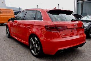 2016 Audi RS 3 8V MY16 Sportback S Tronic Quattro Orange 7 Speed Sports Automatic Dual Clutch.
