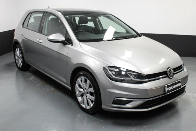 Used Volkswagen Golf 7.5 MY17 110TSI DSG Highline Rutherford, 2017 Volkswagen Golf 7.5 MY17 110TSI DSG Highline Tungsten Silver 7 Speed
