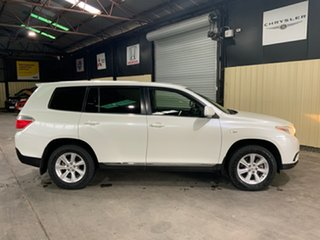 2013 Toyota Kluger GSU45R MY13 Upgrade KX-R (4x4) 7 Seat White 5 Speed Automatic Wagon.