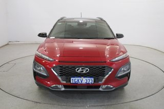 2017 Hyundai Kona OS MY18 Elite 2WD Pulse Red & Phantom Black Roof 6 Speed Sports Automatic Wagon.