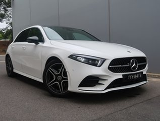 2019 Mercedes-Benz A-Class W177 A180 DCT White 7 Speed Sports Automatic Dual Clutch Hatchback.