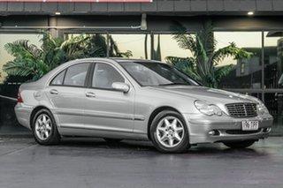 2003 Mercedes-Benz C-Class W203 MY2003 C180 Kompressor Elegance Silver 5 Speed Automatic Sedan.