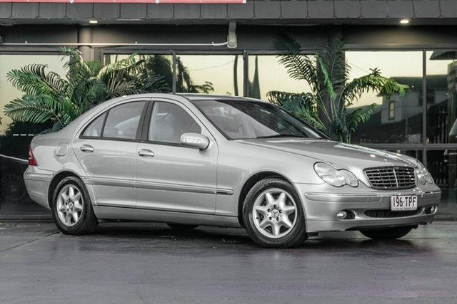 Used Mercedes-Benz C-Class W203 MY2003 C180 Kompressor Elegance Bowen Hills, 2003 Mercedes-Benz C-Class W203 MY2003 C180 Kompressor Elegance Silver 5 Speed Automatic Sedan