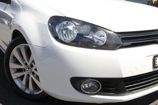 2012 Volkswagen Golf VI MY12.5 118TSI DSG Comfortline White 7 Speed Sports Automatic Dual Clutch.