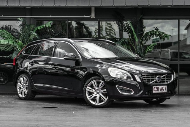 Used Volvo V60 F Series MY12 T6 Geartronic AWD Bowen Hills, 2011 Volvo V60 F Series MY12 T6 Geartronic AWD Black 6 Speed Sports Automatic Wagon