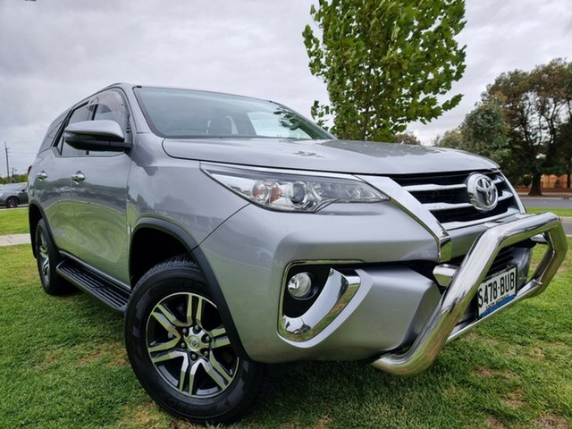 Used Toyota Fortuner GUN156R GXL Hindmarsh, 2018 Toyota Fortuner GUN156R GXL Silver 6 Speed Automatic Wagon