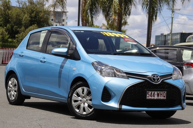 Pre-Owned Toyota Yaris NCP130R Ascent Upper Mount Gravatt, 2016 Toyota Yaris NCP130R Ascent Blue 4 Speed Automatic Hatchback