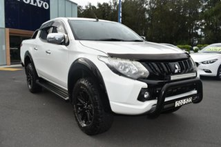 2017 Mitsubishi Triton MQ MY17 GLS Double Cab Sports Edition White 5 Speed Sports Automatic Utility.