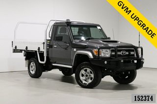 2017 Toyota Landcruiser LC70 VDJ79R MY17 GXL (4x4) Graphite 5 Speed Manual Cab Chassis.