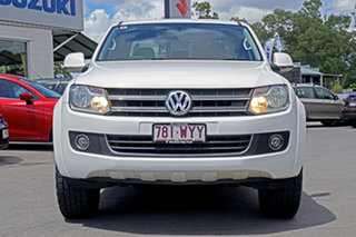 2012 Volkswagen Amarok 2H MY13 TDI400 4Mot Highline Candy White 6 Speed Manual Utility.