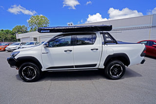 2018 Toyota Hilux GUN126R Rugged X Double Cab White 6 Speed Manual Utility